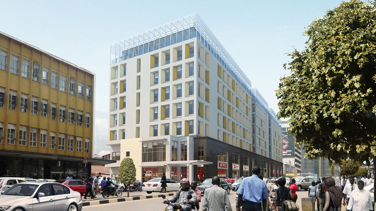 Kampala's commercial district continues its transformation