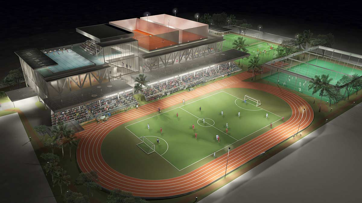 Lugogo Sports Centre concept proposals designed